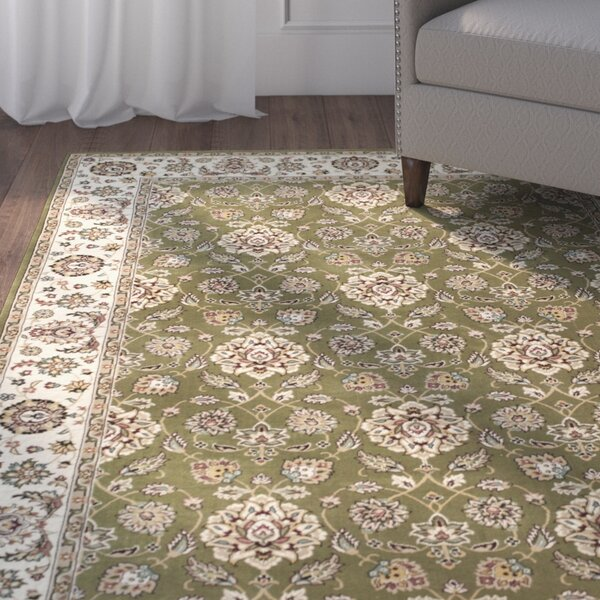 Arietta Green/Ivory Area Rug by Charlton Home