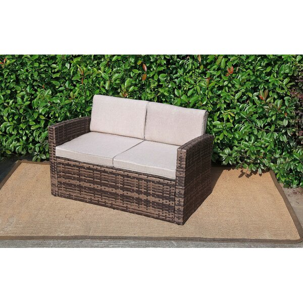 Shepshed Outdoor Pool Garden Loveseat with Cushions by Sol 72 Outdoor