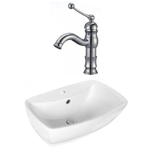 Compare & Buy Above Counter Ceramic Rectangular Vessel Bathroom Sink with Faucet and Overflow ByRoyal Purple Bath Kitchen