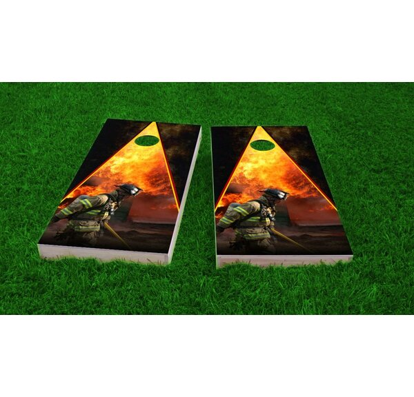 Firefighter Cornhole Game Set by Custom Cornhole Boards
