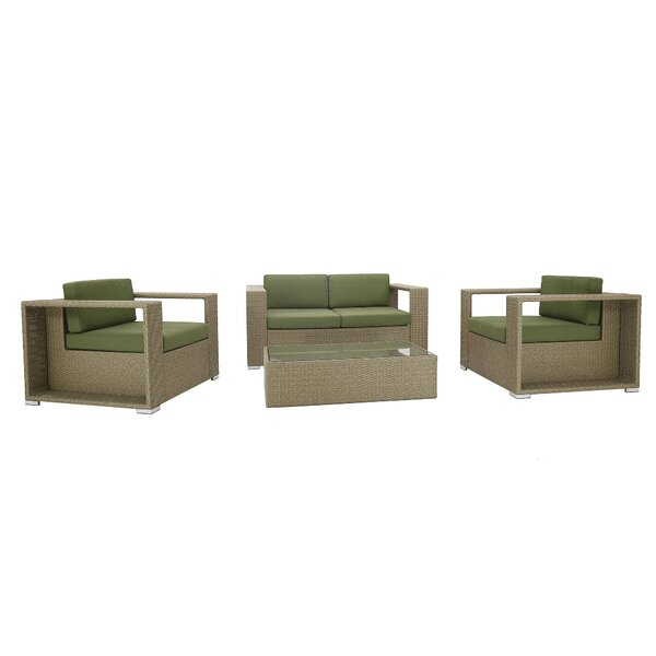 4 Piece Rattan Sofa Seating Group with Cushions by PHANTOM