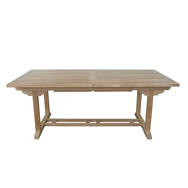Farnam Extendable Teak Dining Table by Rosecliff Heights