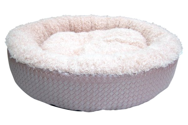 Faux Leather Round Dog Bed (Set of 6) by Best Pet Supplies