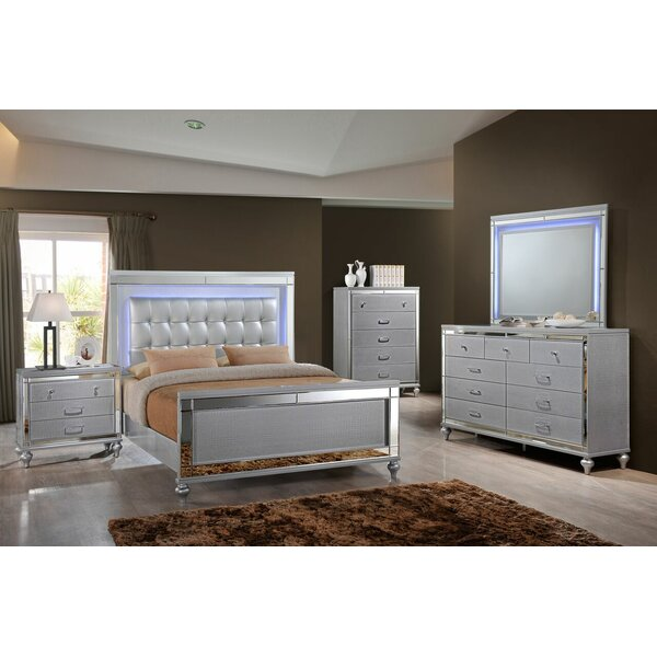 Valencia Sleigh 4 Piece Bedroom Set by Willa Arlo Interiors