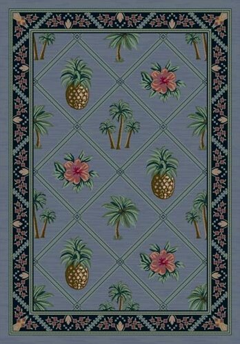 Signature Palm Bay Lapis Area Rug by Milliken