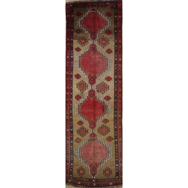 One-of-a-Kind Poe Turkish Oriental Hand-Knotted Wool Brown/Red Area Rug by Loon Peak