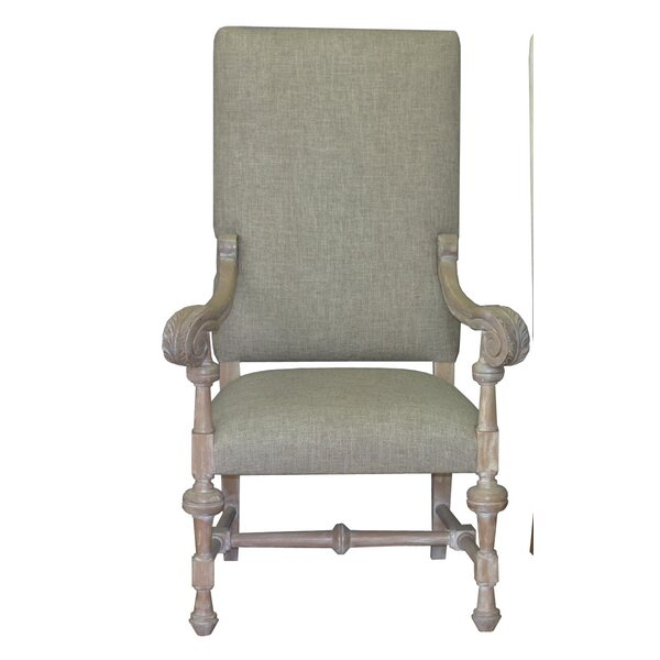 Lenora Solid Wood Upholstered Dining Chair by One Allium Way