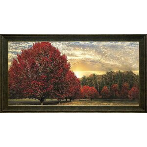 'Crimson Trees' Framed Photographic Print by Alcott Hill