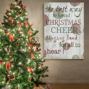 'Christmas Cheer Type' Photographic Print on Wrapped Canvas by The Holiday Aisle