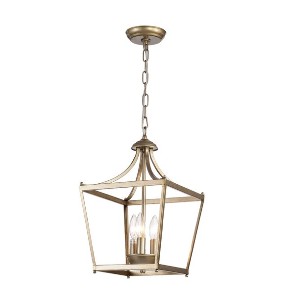 Planas 3-Light Lantern Pendant by Charlton Home