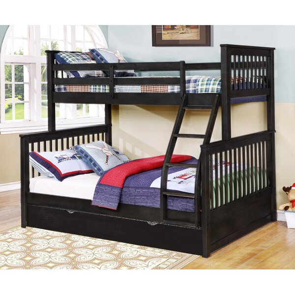 Auguste Twin Over Full Bunk Bed with Trundle by Harriet Bee
