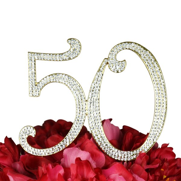 Sparkling Rhinestone Cake Topper by Unik Occasions