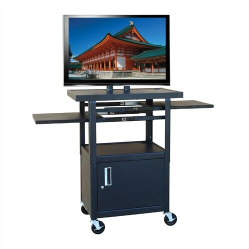 Flat Panel AV Cart with Locking Cabinet by Hamilton Buhl