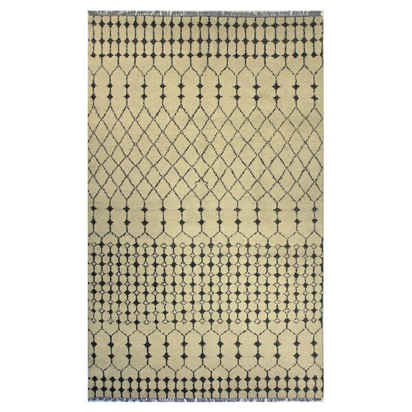 Sarita Hand-Knotted Beige Area Rug by Bashian Rugs