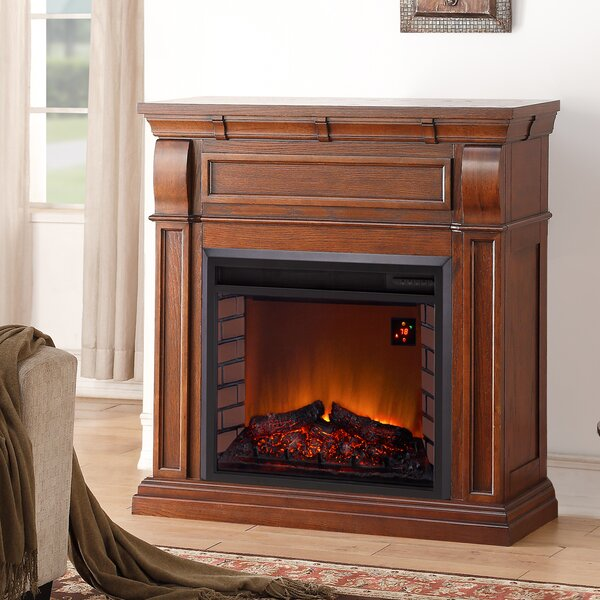 Chestnut Full Size Electric Fireplace by Duluth Forge