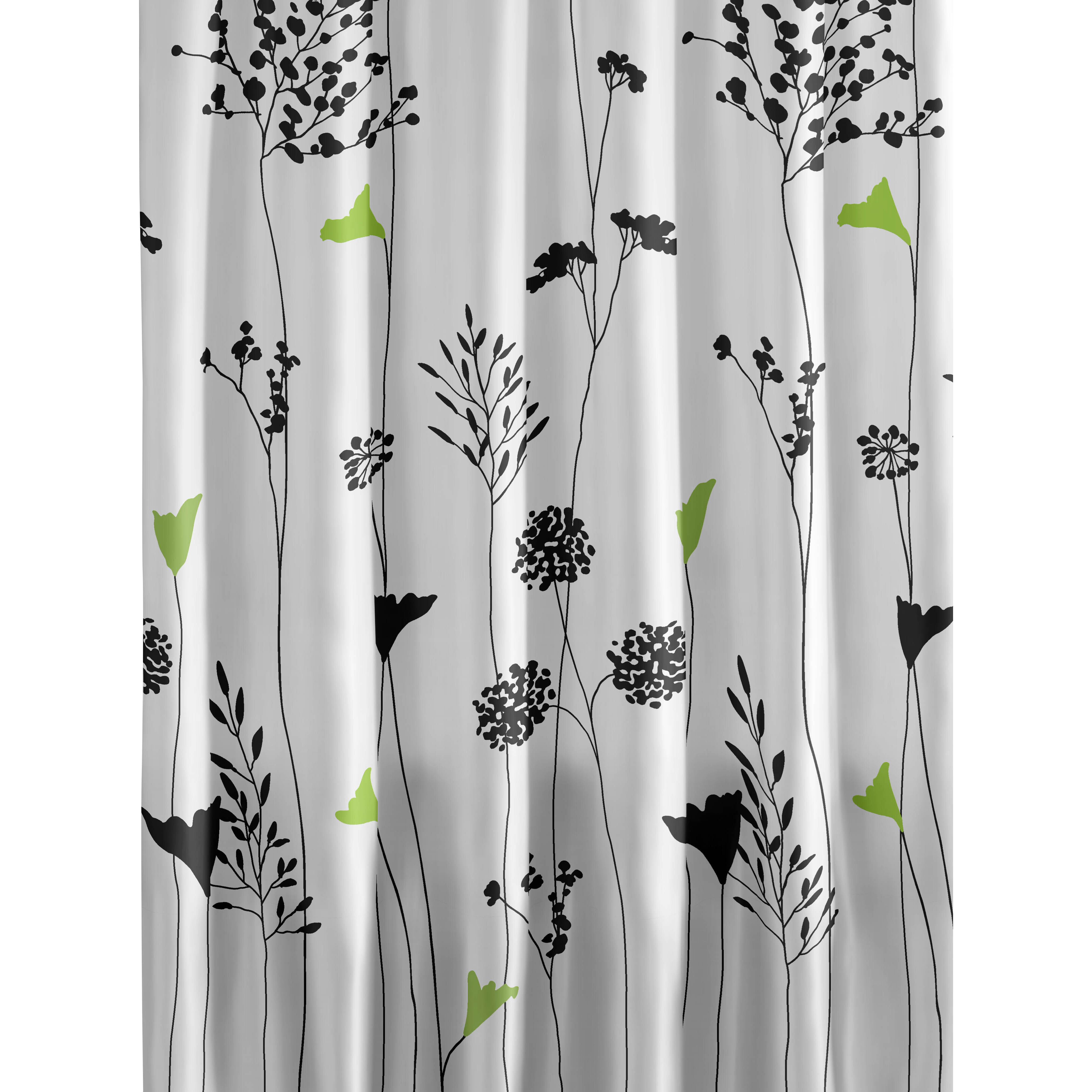 Perry Ellis Asian Lily Cotton Shower Curtain & Reviews | Wayfair
