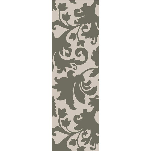 Oberlin Hand-Tufted Wool Gray/Beige Area Rug