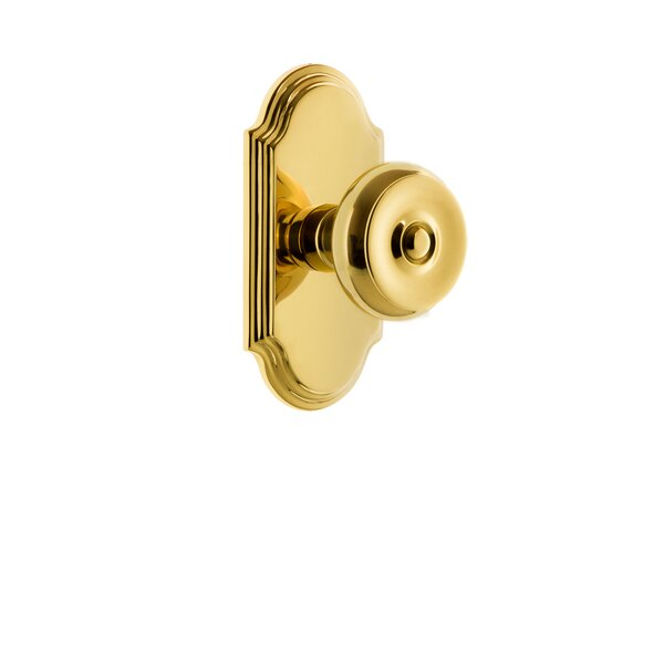 Bouton Privacy Door Knob with Arc Rosette by Grandeur