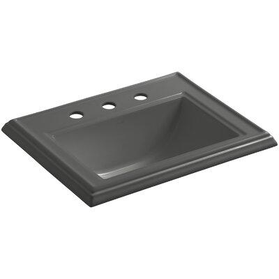 Drop Sink Ceramic Rectangular Overflow Thunder Faucet photo