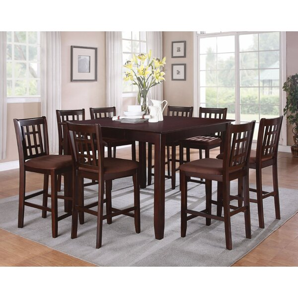 Watanabe Brown Counter Height Dining Table by Charlton Home