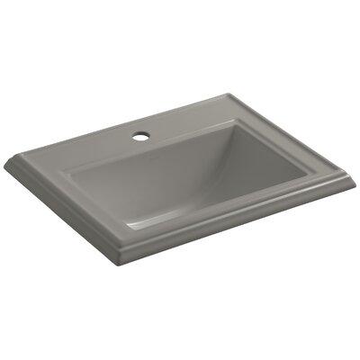 Drop Sink Ceramic Rectangular Overflow Faucet Single 1308 Product Photo