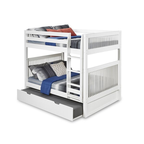 Rabon Full Over Full Bunk Bed with Twin Trundle Mission Headboard by Harriet Bee