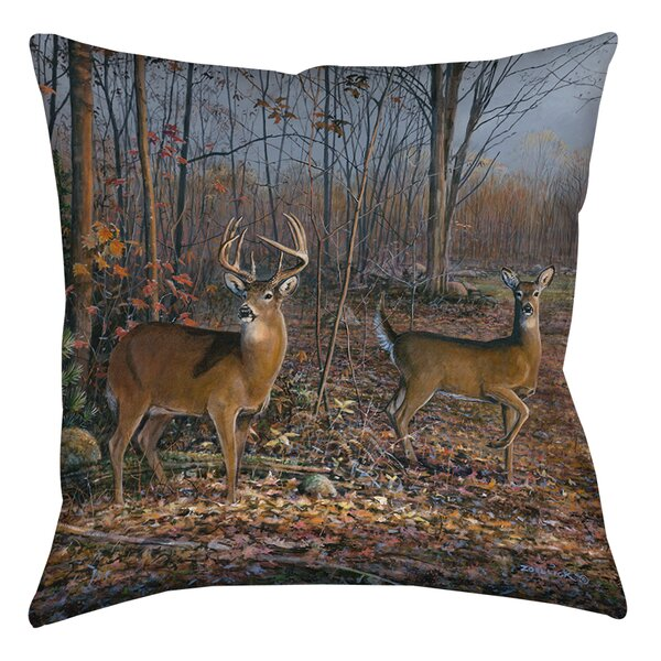 Lovers Lane Printed  Throw Pillow by Manual Woodworkers & Weavers