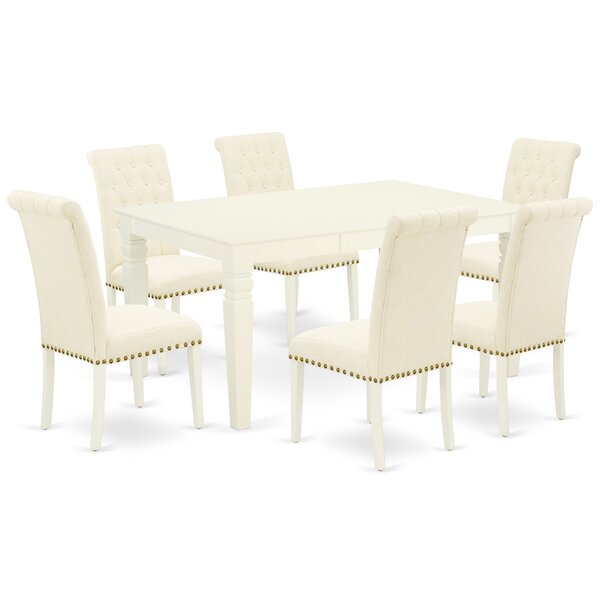 liver 7 Piece Extendable Solid Wood Dining Set by Winston Porter Winston Porter