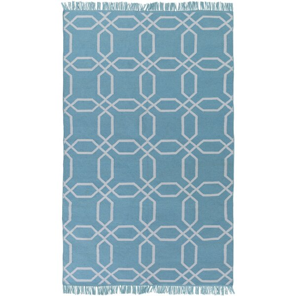 Larksville Hand-Woven Blue Outdoor Area Rug by Charlton Home