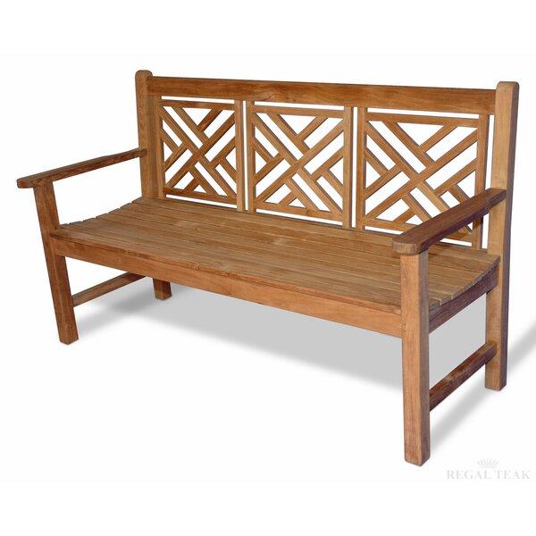 Teak Chippendale Garden Bench by Regal Teak Regal Teak