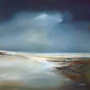 'Indigo Horizon II' Painting Print by Highland Dunes