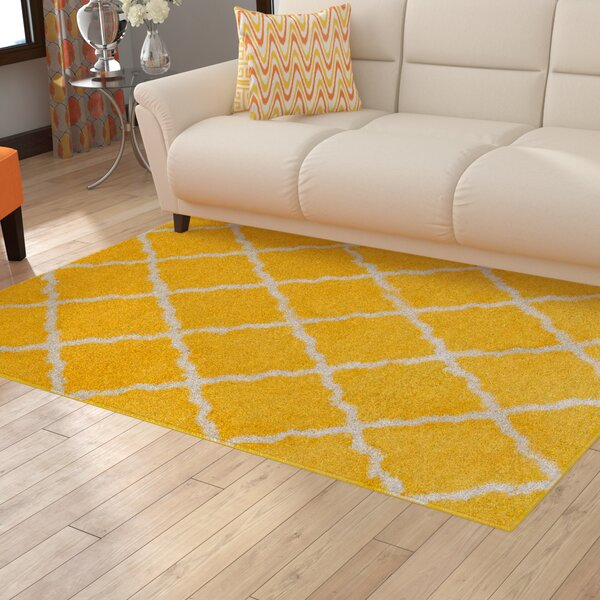 Kavanagh High-Pile Posh Shaggy Canary Area Rug by Latitude Run