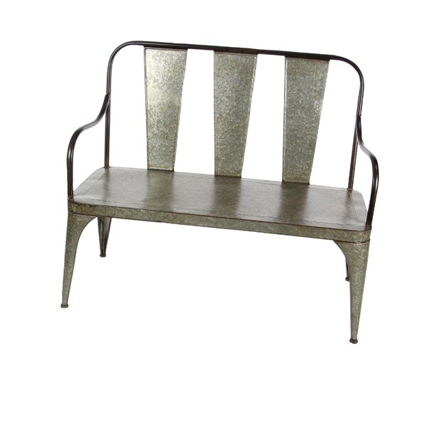 Osterley Iron Garden Bench by Gracie Oaks