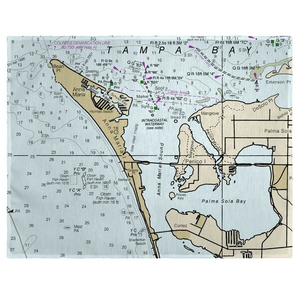 Anna Maria Island, FL 18 Placemat (Set of 4) by East Urban Home