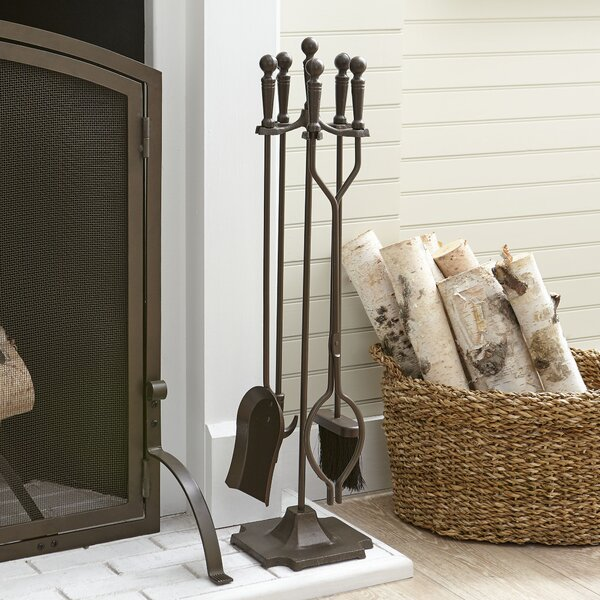 Hanson 4-Piece Fireplace Set by Birch Lane™