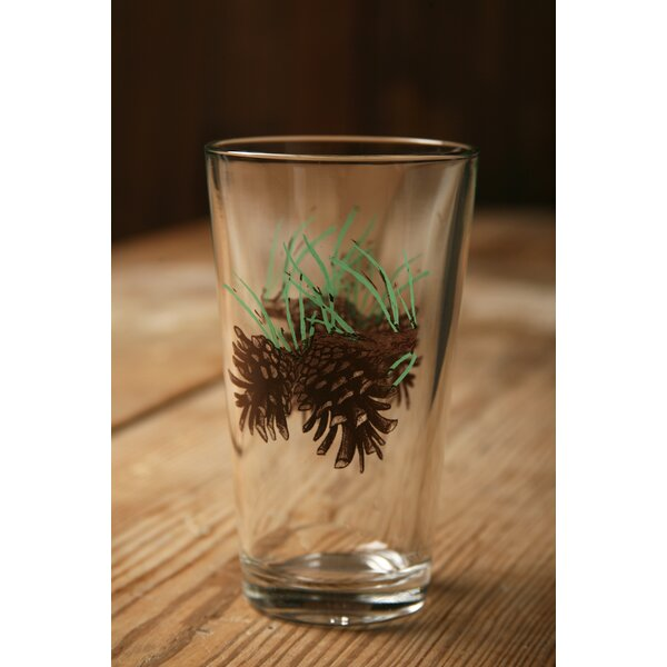 Brooks Pine Cone 20 oz. Water/Juice Glass (Set of 4) by Loon Peak