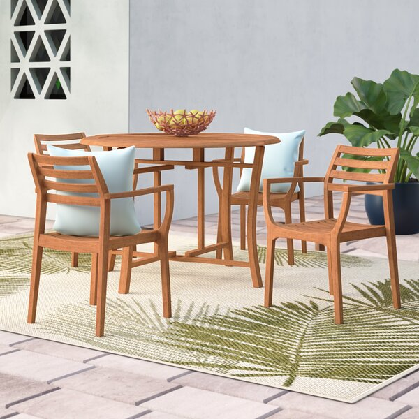 Roseland 5 Piece Dining Set by Beachcrest Home