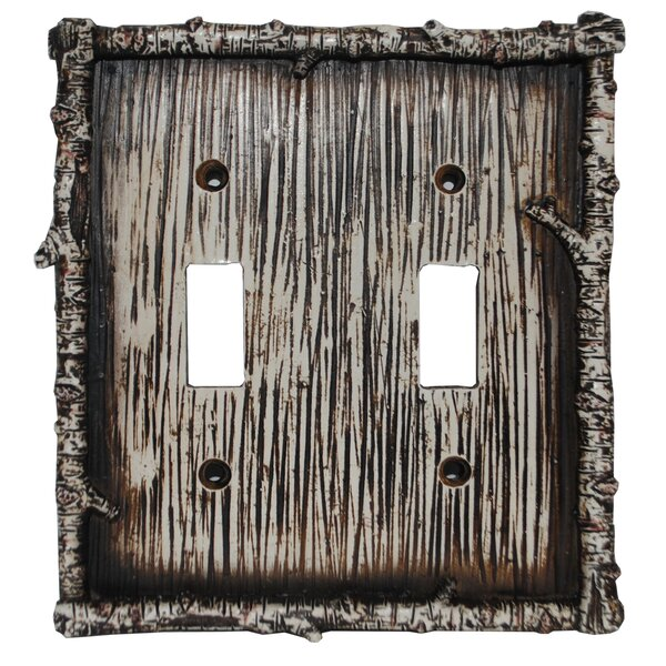 Birch Twig Double Switch Plate (Set of 4) by HiEnd Accents