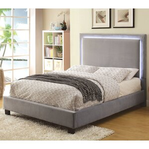 erglow upholstered platform bed