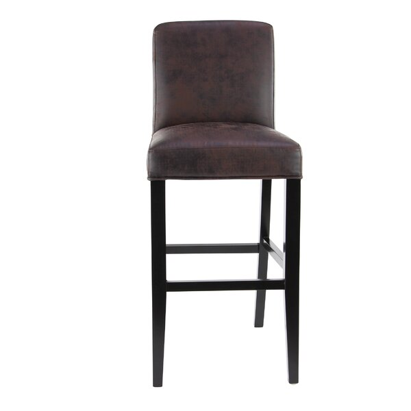 Aahil Eclectic Microfiber 31 Bar Stool by Alcott Hill