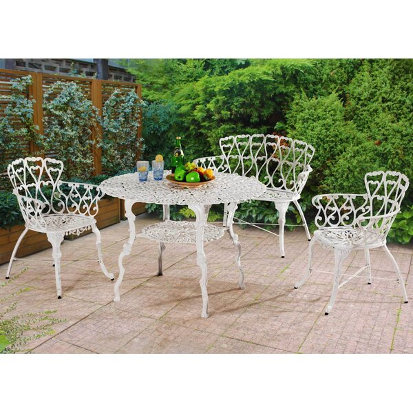 Scaggs 4 Piece Dining Set by Bungalow Rose