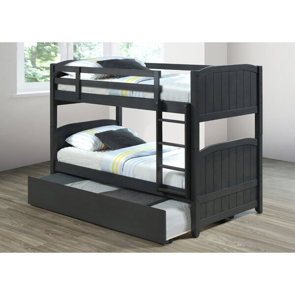 Centerview Twin over Twin Bunk Bed with Trundle by Harriet Bee
