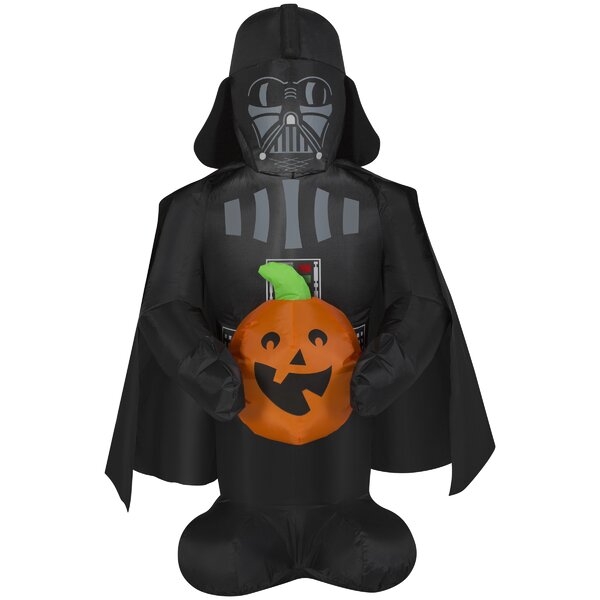Darth Vader Holding Pumpkin SM Star Wars Inflatable by The Holiday Aisle