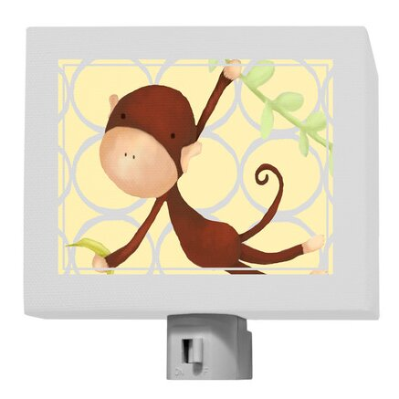 Hanging Monkey Night Light by Oopsy Daisy