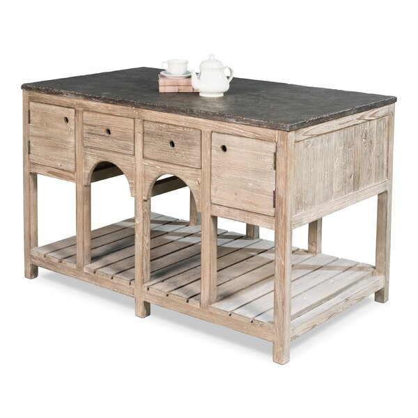 Dahlia Kitchen Island with Stone Top by One Allium Way