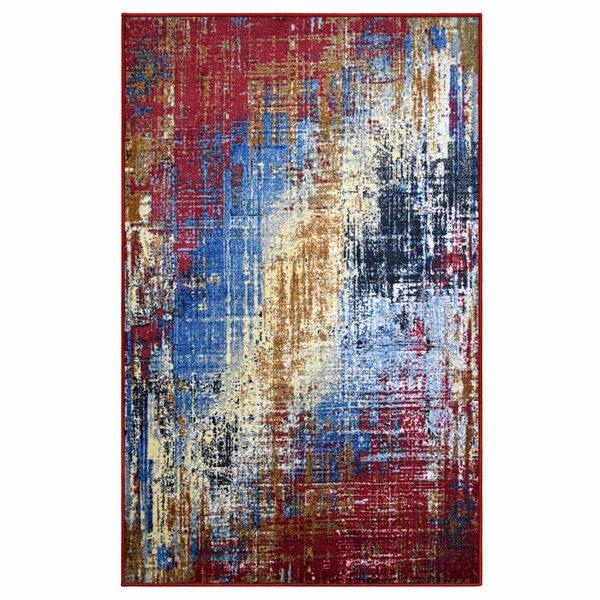 Roisin Superior Printed Non-Slip Red/Blue Area Rug by Williston Forge
