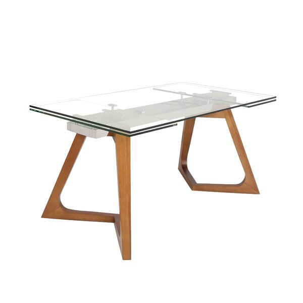 Leong Ruth Large Extendable Dining Table Dining Table by Orren Ellis Orren Ellis