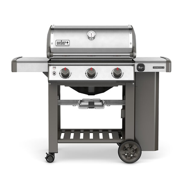 Genesis II S-310 3-Burner Propane Gas Grill with Side Shelves by Weber
