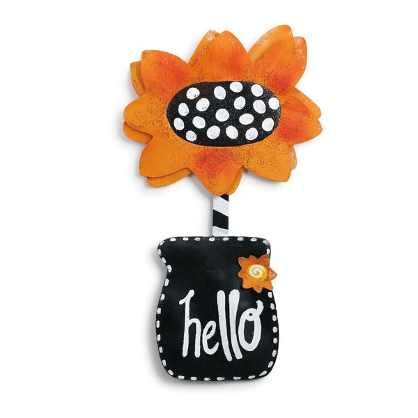 Hello Sunflower Door Hanger Banner by Winston Porter