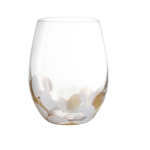 Simone 18 oz. Glass Every Day Glass (Set of 4) by Elle Decor